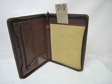 More details for a4 brown real leather folder portfolio(style 718) zipped