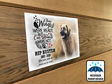 Dog bench plaque, Memorial grave marker plaque, Any personalised design printed.