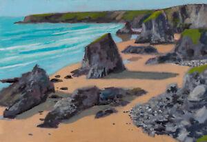 """Bedruthan Steps""   (Painted Outside)   Cornwall/Cornish art"