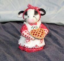 "Vintage Enesco Mary's Moo Moo 1994 You're My Sweetie Pie Cow Figurine 3.5"""