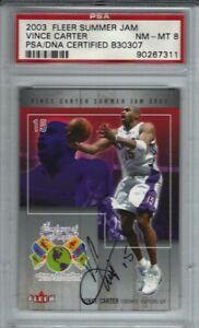 Vince Carter Autographed 2003 FLEER SUMMER JAM PSA/DNA ON-CARD Autograph Signed