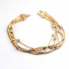 Lab-Created/Cultured Rose Gold Plated Fashion Bracelets