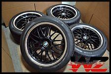"19"" TSW Beyern Staggered Gloss Black Wheels Lip w/ Tires fits BMW 7 Series"