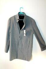 Zara Men's TEXTURED COAT Gray color WEAVE COAT US L 0706
