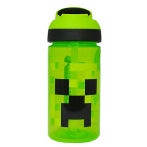 Water/Drinks Bottle - Minecraft  - Creeper Face - Plastic (BPA Free)