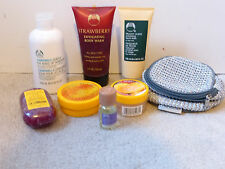 The Body Shop Lot of 8 Body Butter Scrub Wash Soap Face Home Oil Remover Bag New