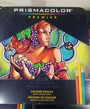 PRISMACOLOR Premier 72 pc. Colored Pencil Set: Pro Art Set in Tin Case BRAND NEW