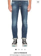 Levis 511 Stokes Castle 31X32 - 045111599 Slim Fit Jeans Dark Blue Selvedge $128