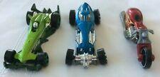 Hot Wheels Vintage Sweet 16 Car Blue Custom Bike Red F Racer Car Green Lot 3
