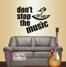Vinyl Decal Don't Stop the Music Piano Keys Musical Note Wall Sticker Decor 1461