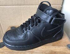 Children's Black NIKE Air Force 1 Hi-Tops/Trainers - Size 12.5 (31) NEW