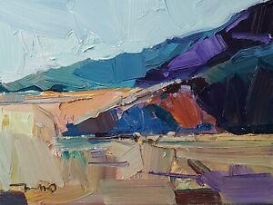 "JOSE TRUJILLO Oil Painting IMPRESSIONISM Contemporary COLLECTIBLE Landscape 12"""