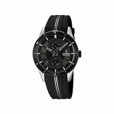 New Festina F16841/1 Womens Black Dial Analog Quartz Watch