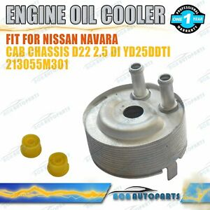 Engine Oil Cooler for Nissan Cabstar R51 D40 2.5DCi 2006-2012 Au Stock