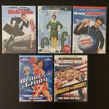 Dvd Lot Of 5 Talladega Nights Blades Of Glory Jim Carrey Will Ferrell Elf