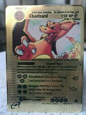 Carte POKEMON Crystal Charizard Golden metal 18g fan card PSA 10 Dracaufeu