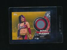 2018 Topps WWE Women's Division Gold Parallel Mat Relic SSP # 10/10 ASUKA beauty