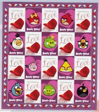 Angry Birds Be Mine Post Office Pack contains 2 x Stamp Mini Sheets