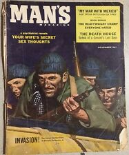 MAN'S MAGAZINE November 1958 Tom Ryan cover,