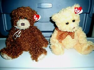 2 Ty Bears-Honeycutt the Bear-Classic Plush and SHAGGY the Bear-Classic Plush