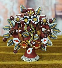 Small Earth Tones Clay Tree of Life Adam & Eve Candelabra, Mexican Folk Art
