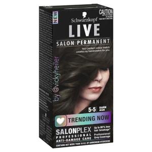Schwarzkopf Live Salon Permanent Hair Colour 5-5 Dark Ash