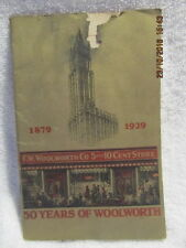 Vtg. Book 50 Years of Woolworth 1879-1929 Story of 5 & Dime Department Store