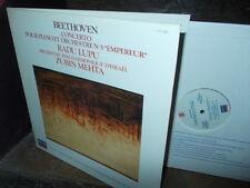 "BEETHOVEN: Concerto pour piano n°5 ""Emperor"" > Lupu Mehta /Decca digital F NM"