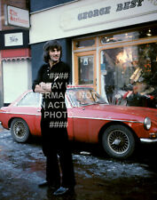 1970 GEORGE BEST SHOP PHOTO CHOOSE PRINT SIZE MANCHESTER UNITED MAN UTD