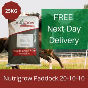 25KG PADDOCK FERTILISER 20-10-10 HORSE PONY FIELDS PROMOTE GRASS GROWTH NPK