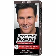 Just For MEN Champú Colorante Negro Natural Teñido Hombre Cabello Grises Color