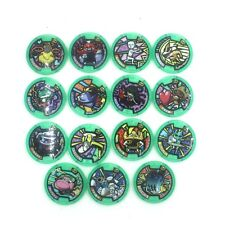 Lot Of 15 Yo-Kai YoKai Watch Green Medals Japan Version DE32