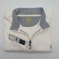 Polo Ralph Lauren Classic 1/4 Zip Pullover Sweatshirt, White, Men's XXL