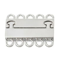 4Set Rectangle Magnet Clasp 5 Strands For Jewelry Making Findings 2.9x2.2cm