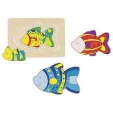 Kinderpuzzle Handarbeit Puzzle aus Holz Holzpuzzle Fische