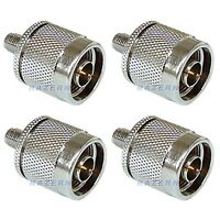 NEW 4 pack SMA female to N male coax RF connectors adapters