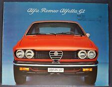 1975 Alfa Romeo Alfetta GT Catalog Sales Brochure Excellent Original 75