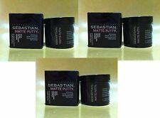 3 x SEBASTIAN MATTE PUTTY SOFT DRY TEXTURIZER 75ML / 75G / 2.6OZ