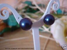 Ohrstecker Tahiti-Blau aus MuschelkernPerlen 10mm 925er Silber Geschenk