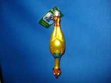 Rubber Chicken Ornament Glass Old World Christmas 44051 16