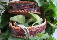 Youth &  Boys' Artisan Handmade Genuine Alligator Caimán Leather Dress Belt