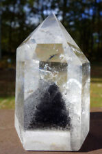 Stunning Polished Black Phantom Quartz Crystal