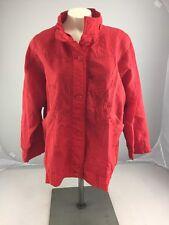 Vintage Crosswinds Red button up lightweight jacket mens Medium