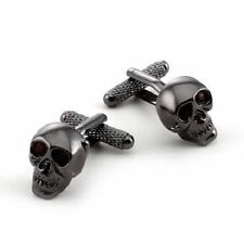 Onyx-Art CK904 Skull  Design Metallic Cufflinks