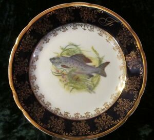 Teller~Kuchenteller~Dessert ~ Manufaktur Leander 1946 ~ echt cobalt~Goldauflage