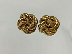 14k Yellow Gold Italian Knot Stud Earrings