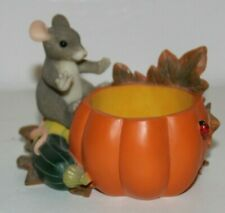 Charming Tails Pumpkin/Squash Votive Holder by Fitz and Floyd 93/101 Dean Griff