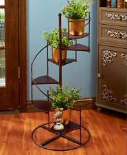 Plant Stands Indoor Wood Tiered Spiral Staircase Flower Pot Holder Display Rack