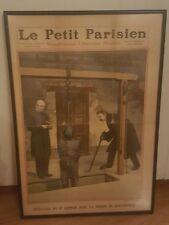 1910 LE PETIT PARISIEN Hanging Execution Dec 11 French Newspaper