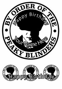 Cake Topper Birthday Peaky Blinders personal Rice paper,Icing fondant Sheet.1181